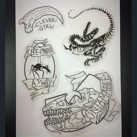 jurassic park tattoo designs best 25 jurassic park ideas on
