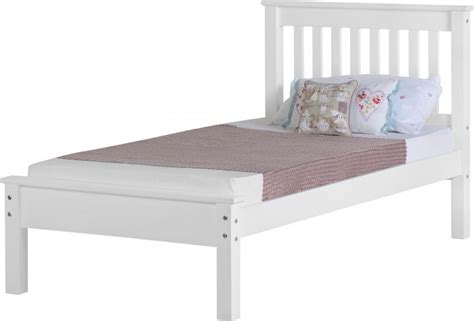 Low Single Bed With Mattress by Monaco Single Bed Low White Wooden Beds