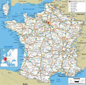 map of all cities large detailed road map of with all cities and