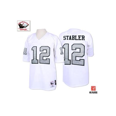 throwback black ken stabler 12 jersey p 1274 and ness 12 kenny stabler white with silver no authentic
