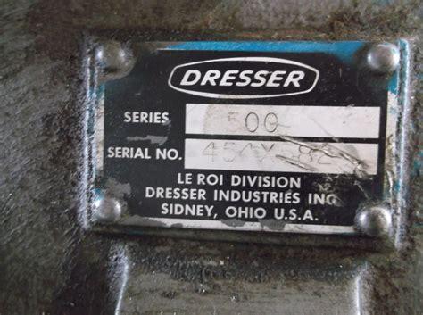 Dresser Air Compressor Parts by Le Roi Dresser Air Compressor On 50 Gallon Weaver Tank