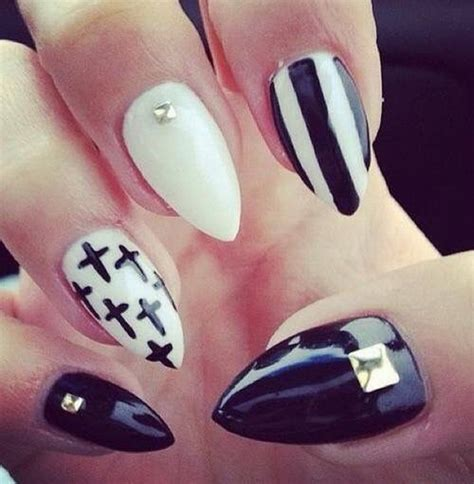 white and black pattern nails cute black and white nails archives for creative juice