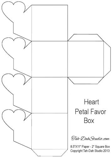 7 best images of free printable heart gift box templates