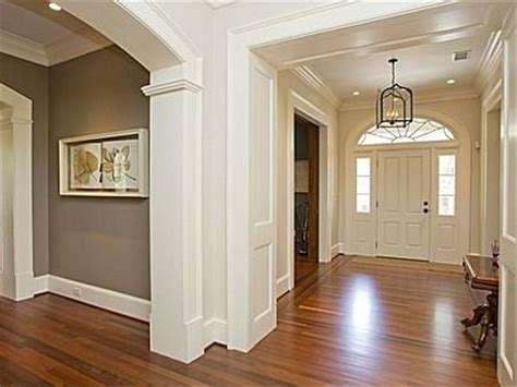 foyer grey paint white trim wood floor ljkoike for the home colors