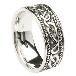 celtic knot wedding ring in sterling silver made in