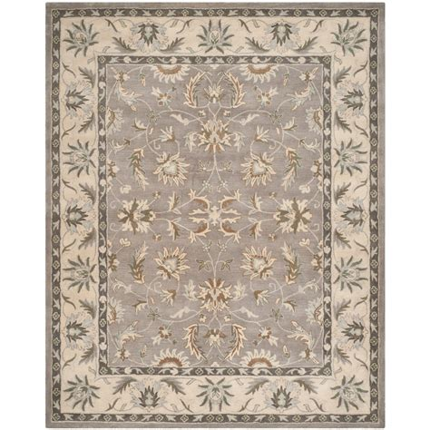 safavieh heritage collection grey and beige area rug