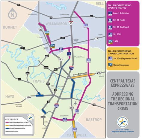 map of toll roads in seguin toll road map central expressways map