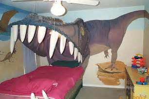 dinosaur themed bedroom kids bedroom design idea sleeping within a dino s jaw freshome com