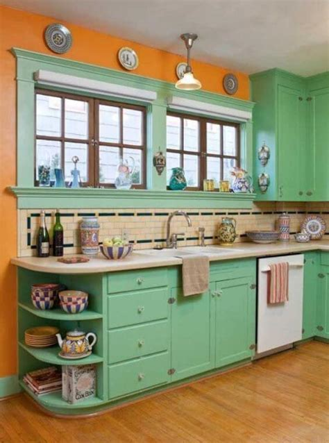 colored kitchen cabinets 15 green kitchen cabinets design photos ideas inspiration