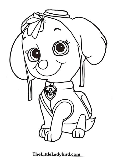 free paw patrol coloring pages paw patrol coloring pages sky to print coloring for