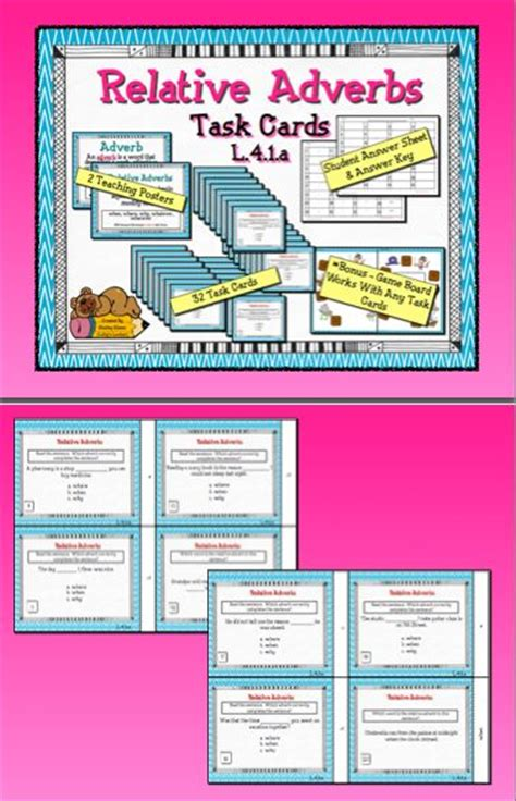 printable adverb poster teaching posters adverbs and game boards on pinterest