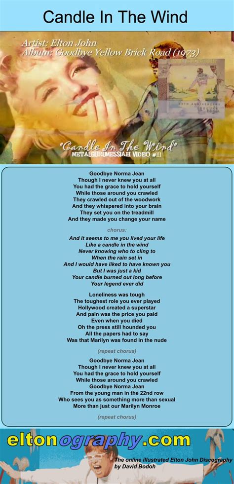 elton john candle in the wind lyrics best 25 elton john lyrics ideas on pinterest elton john