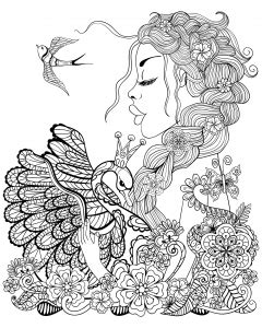 birds coloring pages  adults