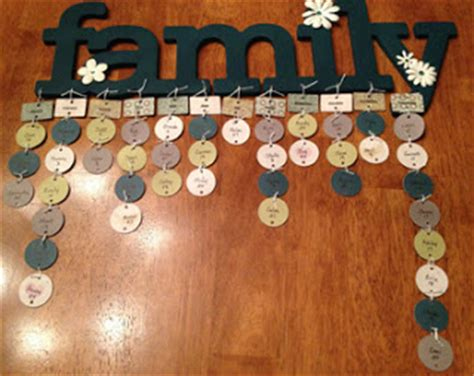 Handmade Wall Hanging For Birthday - stin with mj a perpetual family birthday calendar