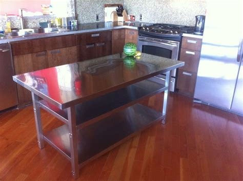 stainless steel kitchen island table stainless kitchen tables kitchens with stainless steel
