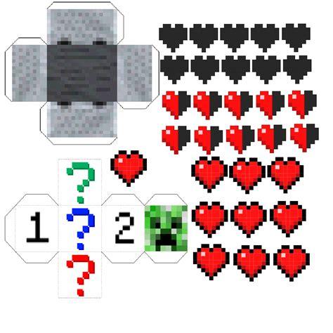 Minecraft Papercraft Minecart Set - papercraft minecart race a minecraft board