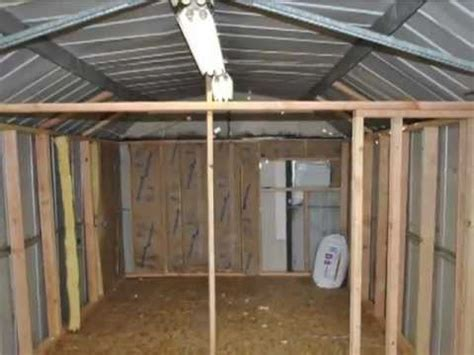 building a growroom in a steel shed