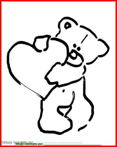 imagenes de ositos con corazones para dibujar free coloring pages of bordes con flores