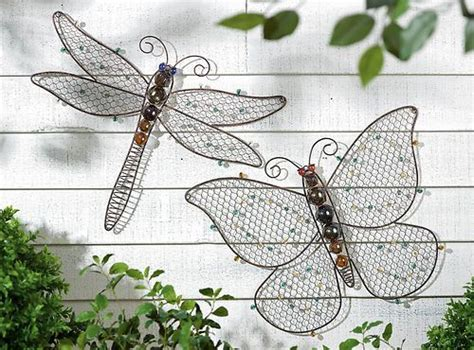 Dragonfly Garden Decor Metal Beaded Dragonfly Butterfly Garden Decor Butterflies To Make Pinterest Beaded