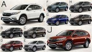 Honda Crv Color 2017 Honda Cr V Exterior Colors 2017 2018 Best Cars