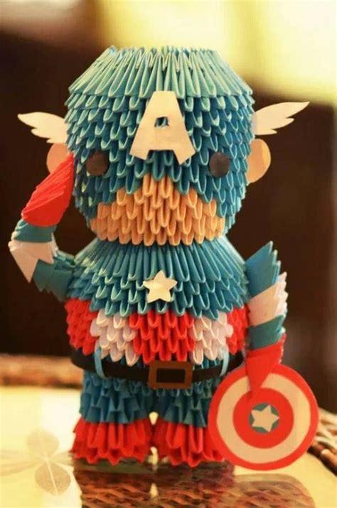 3d Origami Marvel Avenger origami america captain america marvel dc x