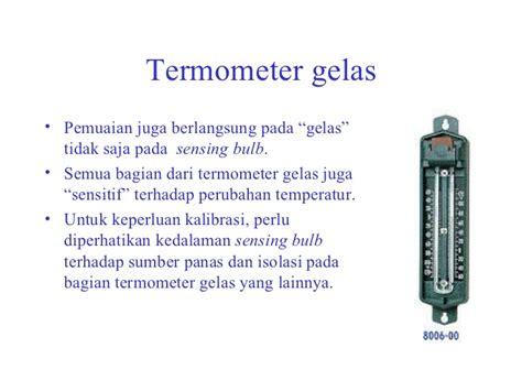 Termometer Gelas pengukuran temperatur