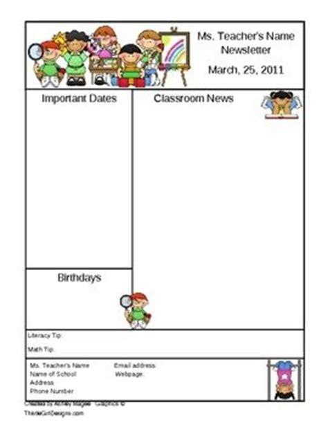 68 Best Images About Class Newsletter On Pinterest Digital News Class Newsletter And Classroom Monthly Classroom Newsletter Template