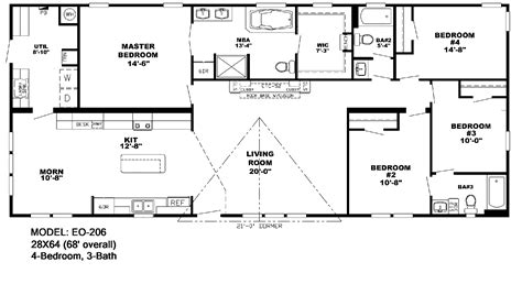 Mobil Home Floor Plans double wide mobile home floor plans florida gurus floor