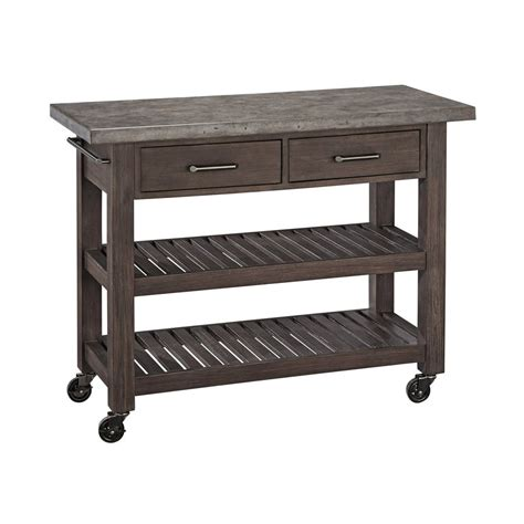 Shop Home Styles Concrete Chic Brown/Gray Acacia Outdoor