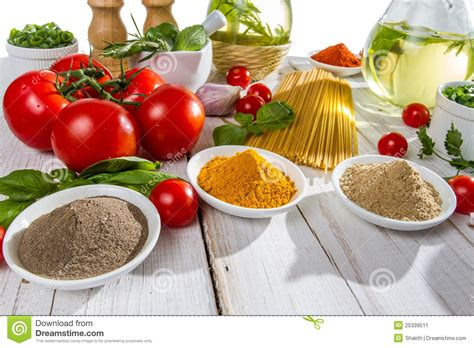 Make Gourmet Tasting Meals From The 99 Cent Store by Ingredients For A Healthy Meal Stock Image Image 25339511