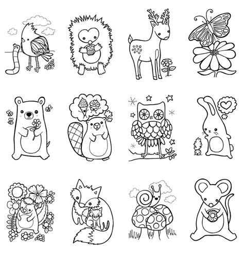 Woodland Animals Coloring Pages free coloring pages