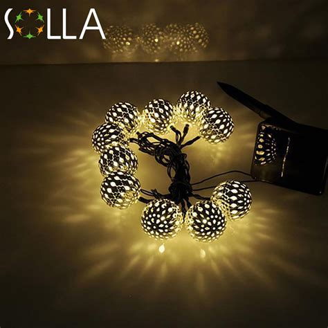 Warm White 10 Balls Set Wholesale Moroccan String Led Bulk Led String Lights