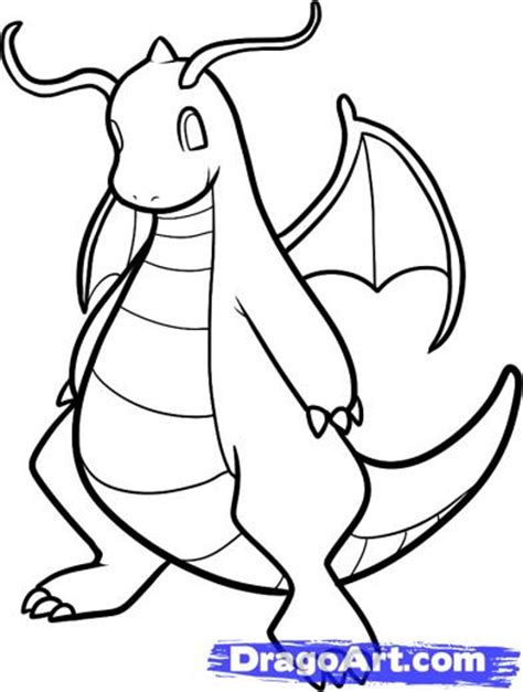 pokemon coloring pages dragonite dragonite colouring pages