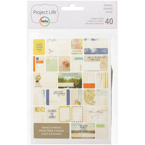 Gift Card For Travel - project life themed cards travel