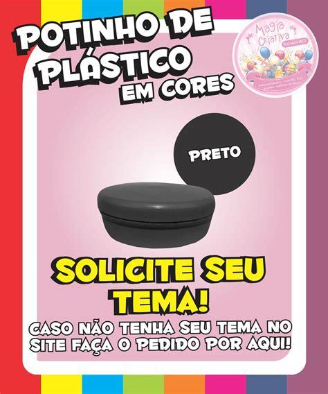 Plastik Segel 8 5 Cm By Nomi Mino potinho de pl 225 stico em cores preto magia criativa