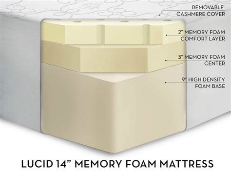 colchon memory foam memory foam colchon individual 14 pulgadas 10 376 00