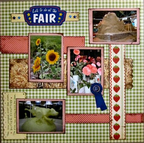 scrapbook layout ideas for lots of pictures lots to do at the fair scrapbook com scrap2