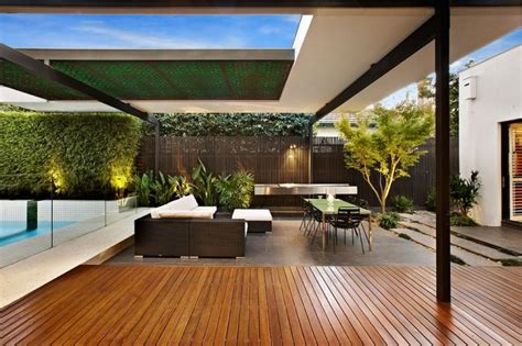 modern backyards stylish melbourne home dazzles with a lavish pool space