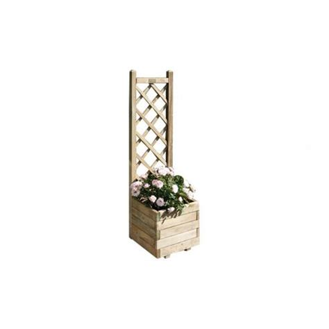 Planter With Lattice by Buy Rowlinson Square Planter With Lattice From Our