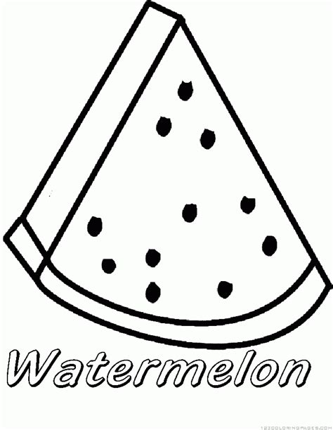 Watermelon Coloring Pages Watermelon Coloring Page