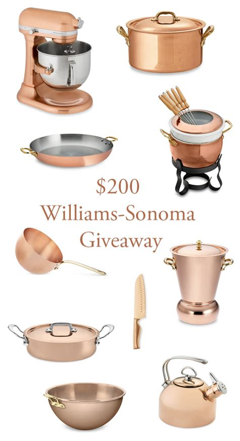 Williams Sonoma Giveaway - 200 williams sonoma giveaway junebug weddings