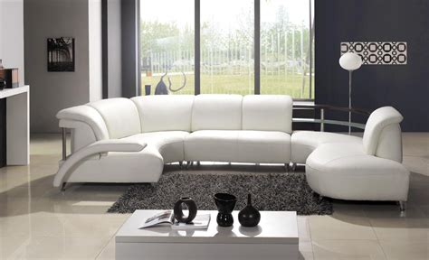 Modern Sofa White Modern White Leather Sectional Sofa