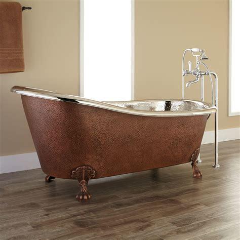 copper clawfoot bathtubs 49 quot abbey copper slipper clawfoot soaking tub bathroom