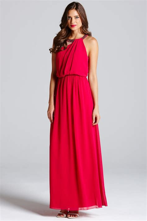 Dress Ghifa Pink 1 pink one shoulder drape maxi dress from uk