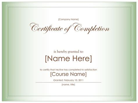 17 Best Ideas About Certificate Of Completion Template On Pinterest Therapy Counseling And Parenting Class Certificate Of Completion Template