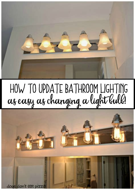 changing light fixture in bathroom how to update bathroom lighting it s as easy as changing