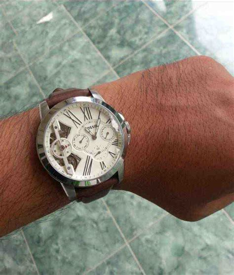 Jam Fossil Gaban Leather Murah by Jual Fossil Me1144 Grant Twist Multifunction Brown Leather