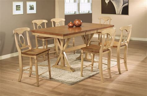 Quails Run Counter Height Trestle Table Dining Room Set In Trestle Dining Room Table Sets