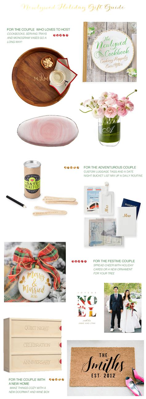 newlywed holiday gift guide coastal bride