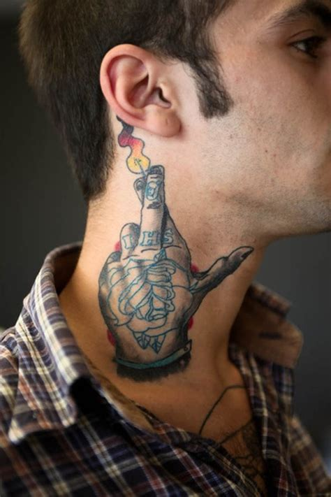 tattoo on neck for men tattoos for men